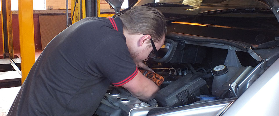 Working on a Car